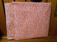 "Fabric 4 Yards and 18"" Crazy Daisy White Flower Green Center Pretty Pink Cotton"