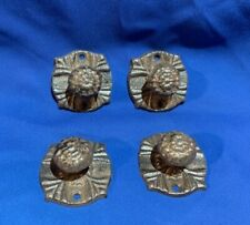 "Vintage Cast Iron Drawer Pull Knob 2 1/4"" wide Base (Set of Four) 0184-0062"