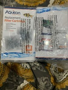 2 Aqueon Cartridges 12 Packs Medium filters QuietFlow Led 10, E20. Replacement