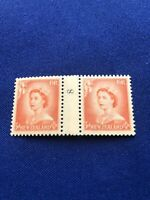 New Zealand Stamps,1 Cntr Coil Pair,1954,CP#NC1f,MNH,Cat Val:$32US,Pr:$8US(9381