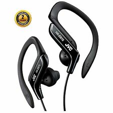 JVC HA-EB75 BLACK SPORTS ADJUSTABLE EAR CLIP EARPHONES HEADPHONES GYM RUNNING