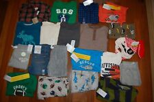 NWT Boys 2t 24m HUGE 21 Piece Fall Winter Lot CRAZY 8 CARTER'S JUMPING BEANS