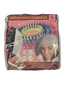 Strickring Set 6tlg Strickrahmen knitting loom mit Anleitung Strickliesel Set
