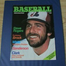 MONTREAL EXPOS 1979  NO 5  Magazine Steve Rogers cover  Larry Parrish centerfold