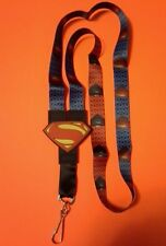 Superman DC Comics Lanyard Necklace neck strap ID Holder Keychain Licensed NWT