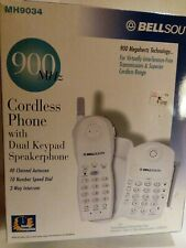 Bell South 900 Megahertz Cordless Phone Auto Scan Speed Dial 2 Way Intercom