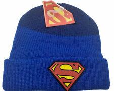 DC Comics Superman Logo Blue Cuff Winter Beanie Hat