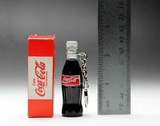 "Coca Cola Red Label 2.5"" Mini Bottle Keychain Key Ring Original Box Coke Japan"