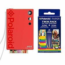 Polaroid Mint Instant Print Digital Camera (Red), W/ 20 Pack Zink Zero Ink 2x3 S