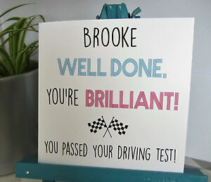 PERSONALISED Handmade Congratulations Well Done You've Passed Driving Test Card