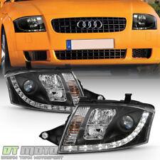 Black 1999-2006 Audi TT Quattro Projector Headlights w/LED Daytime Running Lamps