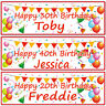 2 personalised birthday banner balloon bunting children kids adult party poster