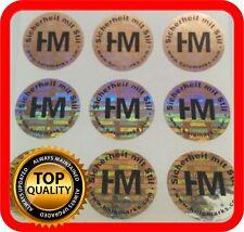 Ihr Logo und Text auf 600 Hologramm Etiketten Garantie Siegel Aufkleber dia 22mm