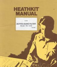 Heathkit HD-1418 Active Audio Filter Assembly & Operation 56 page Digital Manual