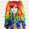 "24"" Heat Resistant Gothic Lolita Cosplay Wig with Multicolor Clip-On Ponytails"
