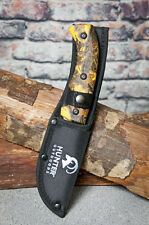 """9"""" Hunting Survival Skinning Gut Hook Fixed Blade Knife Camo Handle"""