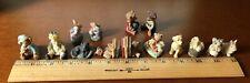 Vintage Boyds Bears Miniture Resin Figurines Huge Lot 14 Piece Set w/Box & Coa