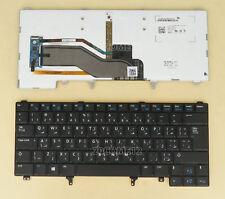 New for Dell Latitude E5420M E6430S xt3 E6440 Keyboard Backlit Arabic blue print
