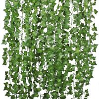 12Pcs Artificial Ivy Leaf Plants Fake Hanging Garland Vines Foliage Home Decor