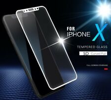 iPhone X 5D Edge Curved Full Coverage Tempered Glass Screen Protector For Apple