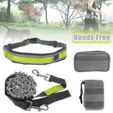 Hands Free Pet Dog Traction Rope Leash Walking Running Waist Belt Bag Pouch