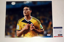 JAMES RODRIGUEZ COLOMBIA 2014 WORLD CUP SIGNED AUTOGRAPH 11X14 PHOTO PSA/DNA COA