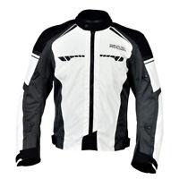 Shua Immortal Sports Touring Chaqueta textil corta de moto Hielo/Antracita/Negro