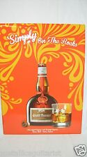 "GRAND MARNIER - ORANGE COGNAC LIQUEUR - 23"" x 17"" METAL TACKER SIGN *NEW*"
