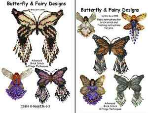 Butterfly & Fairy Designs Bead Pattern Book by Rita Sova, ISBN 09668236-1-3