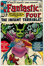 FANTASTIC FOUR #24 4.0 OFF-WHITE TO WHITE PAGES SILVER AGE