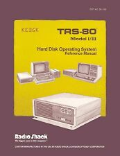 TRS-80 Hard Disk Operating System * Model I / III Reference Manual * PDF * CDROM