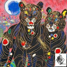 JIANG, TIGER COUPLE SERIGRAPH HAND EMBELLISHED ON CANVAS w/coa H/S CRP $2000