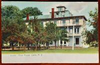 RARE! VTG Hine House Cairo NY Postcard RPPC Real Photo early 1900s misprint