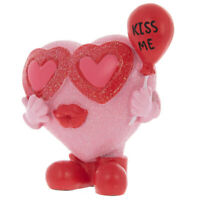 Kiss Me Footed Heart Figurine. Cute, Sweet & meaningful Gift . Valentine Day