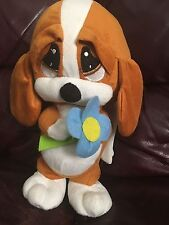 "12"" Sad Sam & Honey Stuffed Plush Dog KELLY TOY"