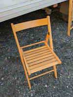 Solid wood folding chair LB090220P