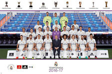 REAL MADRID 2016/2017 Official Soccer Team Portrait POSTER - Ronaldo, Zidane, ++