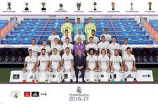 REAL MADRID 2016/2017 Official Soccer Team Portrait POSTER - Ronaldo, Zidane, ++