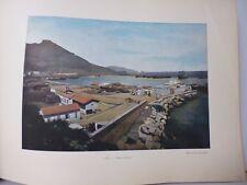 ALGERIE : Gravure 19° in folio couleur / PORT D'ORAN