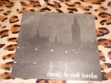 Programme  David, la nuit tombe de Bernard Kops - Signé - Terzieff... 1970