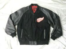 PRO PLAYER Detroit Red Wings Suede & Leather Coat sz.XL - NHL Black Hockey Mens