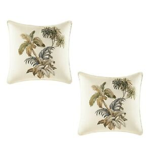 """2 Tommy Bahama 16""""X16"""" NADOR PALMS Throw Pillows - Brand New"""