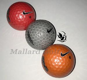 3 count - Nike Karma Mojo Rare Golf Balls Silver, Orange & Red (5A) *No Purple*