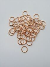 New! 200 pcs Rose Gold Open Jump Rings 8mm Jewelry #69 Ring Findings Making