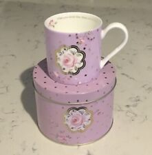 Royal Albert Mug In A Tin Rose Confetti - Brand New- Great Gift Idea!