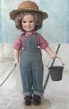 "SHIRLEY TEMPLE 14"" Porcelain Doll ""REBECCA OF SUNNYBROOK FARM"" DANBURY MINT"