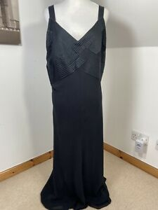 Windsmoor Women's Maxi Dress Size 24 Cross Satin Chest Halter Evening