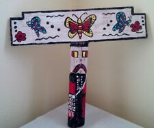 Navajo Route66 Trading Post Hand Carved Wood Butterflies Tableta Hanging Kachina