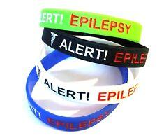 1 x Epilepsy Epileptic Medical Alert Silicone Wrist Band Bracelet UK SHOP