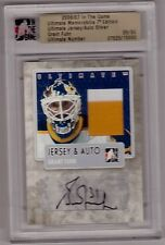 GRANT FUHR 06/07 ITG Ultimate Memorabilia Jersey Auto Autograph SP Game-Used /50